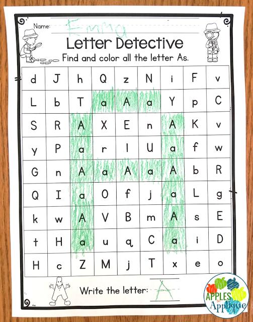 Letter Detective Activity | Apples to Applique
