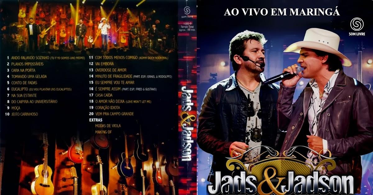 CAPAS DVD VIDEO JP: JADS & JADSON AO VIVO EM MARINGÁ