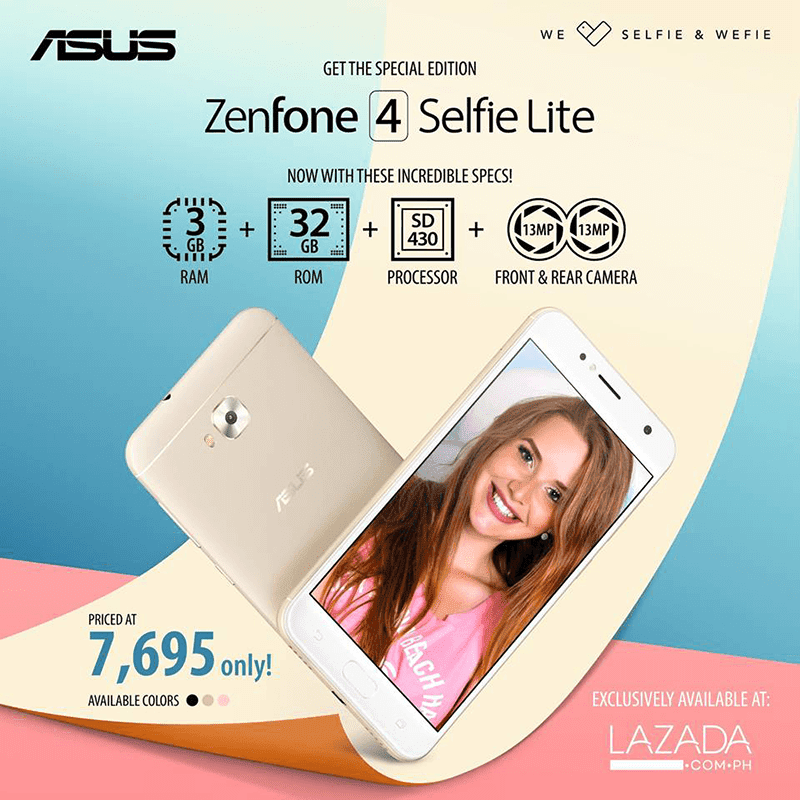 ASUS launches upgraded ZenFone 4 Selfie Lite with SD430 chip and 3GB RAM in PH