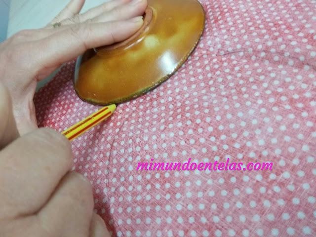como hacer círculosven tela  para decorar