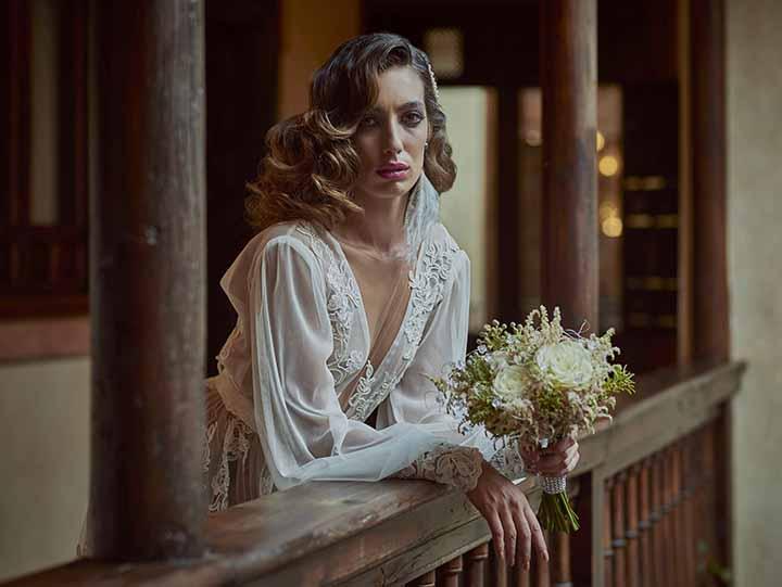 peinado para novia con rulos 2020