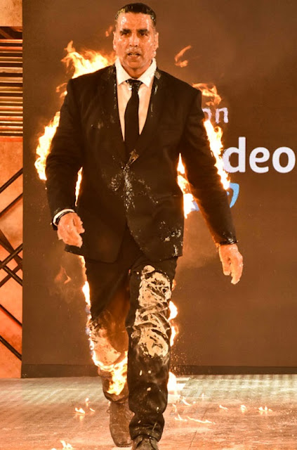 Akshay Kumar at the launch event of his upcoming Series The End on Amazon prime Sanket savaliya India talks
