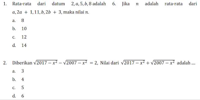 LATIHAN PERSIAPAN OSK MATEMATIKA SMP 2017 KETIGA