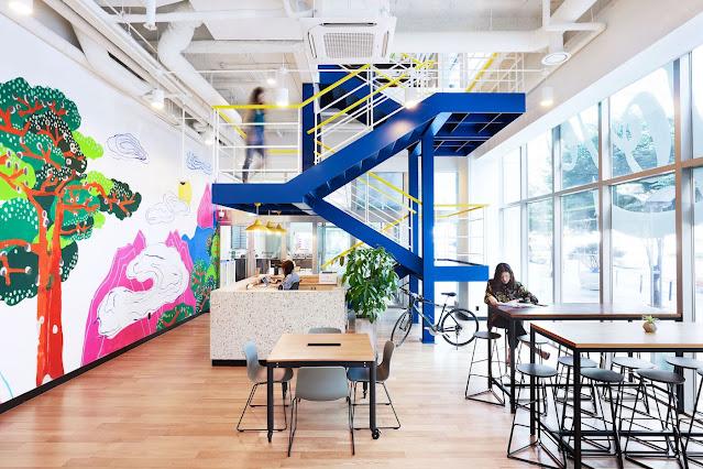 Văn phòng đa sắc màu truyền cảm hứng sáng tạo cho nhân viên