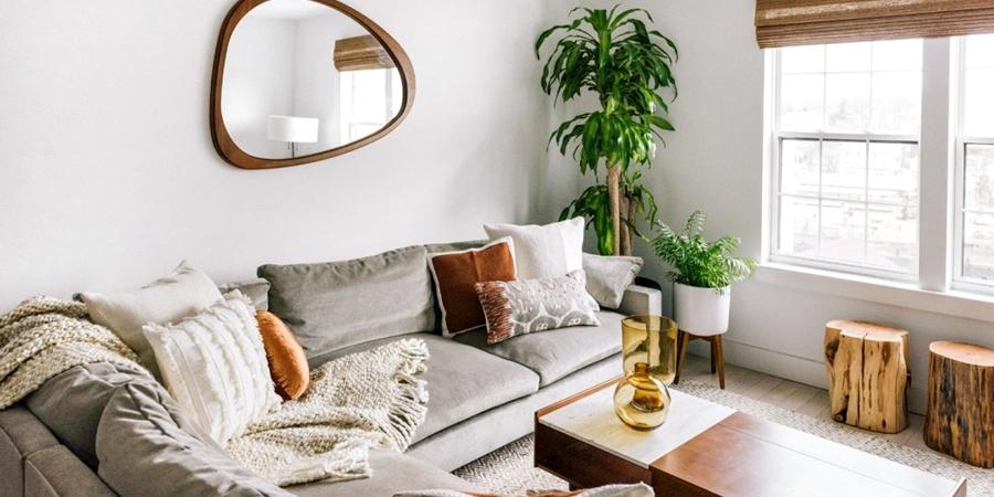 Prosty apartament w klimacie feng shui, wystrój wnętrz, wnętrza, urządzanie domu, dekoracje wnętrz, aranżacja wnętrz, inspiracje wnętrz,interior design , dom i wnętrze, aranżacja mieszkania, modne wnętrza, naturalne materiały, minimalizm, rośliny, białe wnętrza,