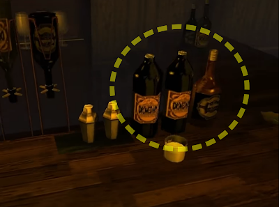 Heart Beats bar (Shenmue I): players may recall seeing some of the same whisky & bourbon bottles.