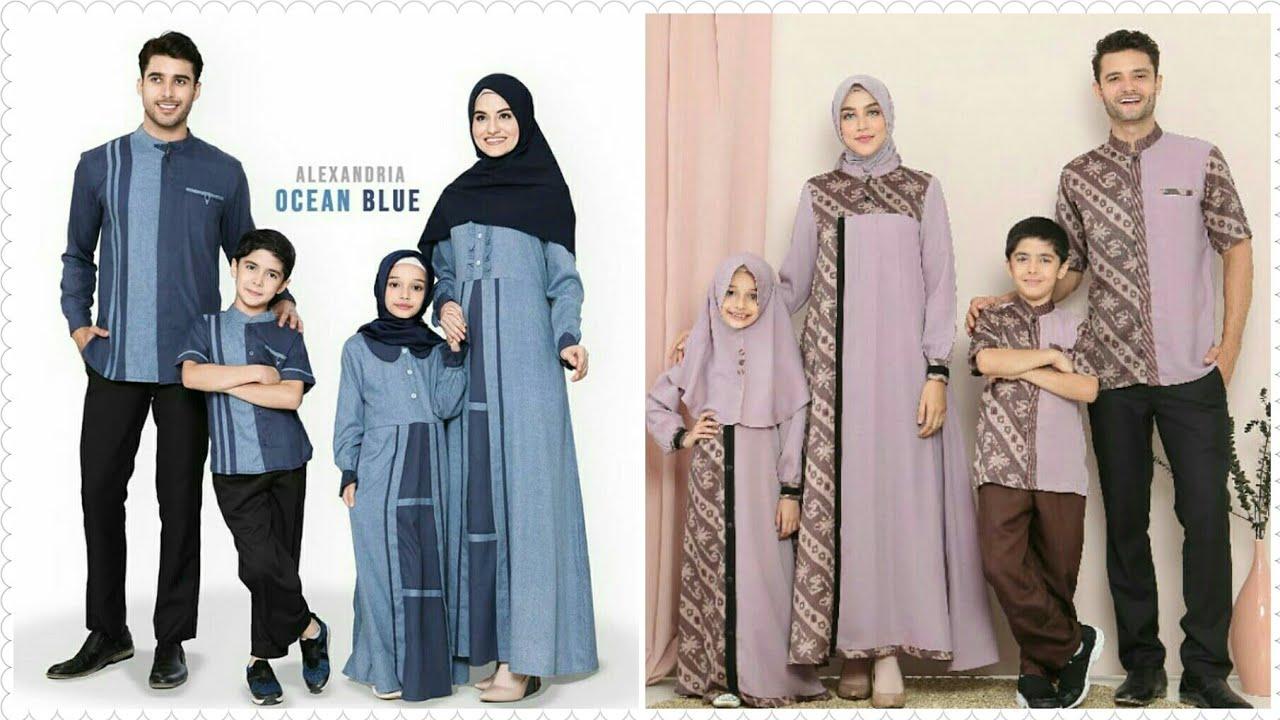 55+ Desain Baju Muslim Keluarga Seragam Modern Terbaru ...
