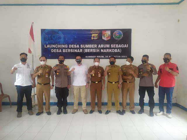 Polres Lampung Utara Launching Desa Bersih Narkoba di Sumber Arum