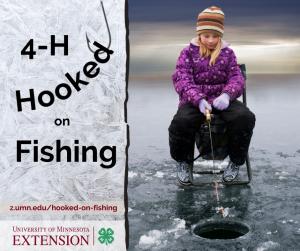 """Girl ice fishing - """"4-H Hooked on Fishing"""""""