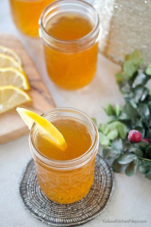Southern bourbon holiday punch