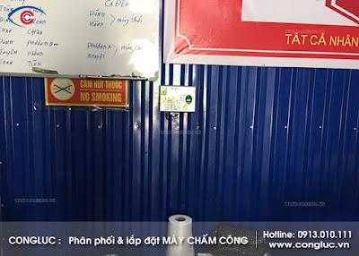lắp máy chấm công vân tay Ronald Jack 4000TID-C tại nhà máy Vina Green