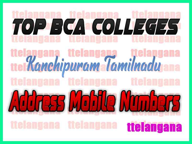 Top BCA Colleges in Kanchipuram Tamilnadu