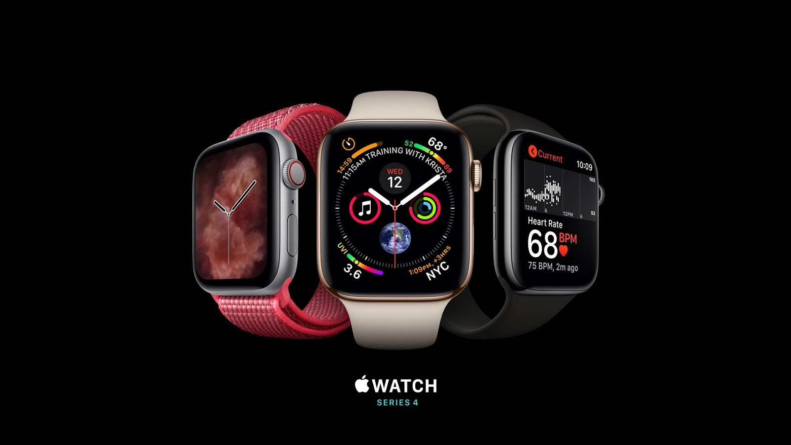 Wallpapers Apple Watch Series 4, silver, gold, black HD image
