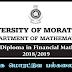 MSc/PG Diploma in Financial Mathematics - இலங்கை மொரட்டுவ பல்கலைக்கழகம்.