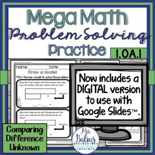 Mega Math Practice problem solving bundle will help you provide your students with quality problem solving practice and save you time!
