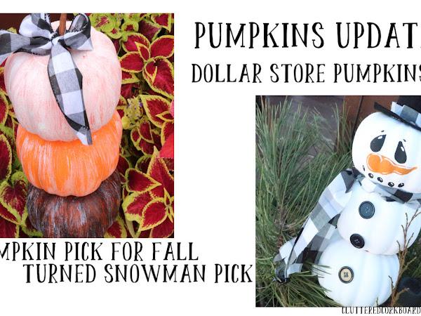 DIY Snowman from my dollar store DIY Pumpkin Pick