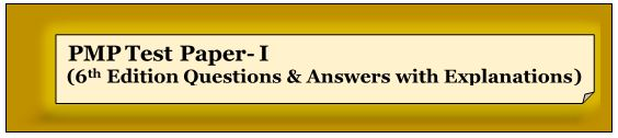 PMP sixth edition questions and answers