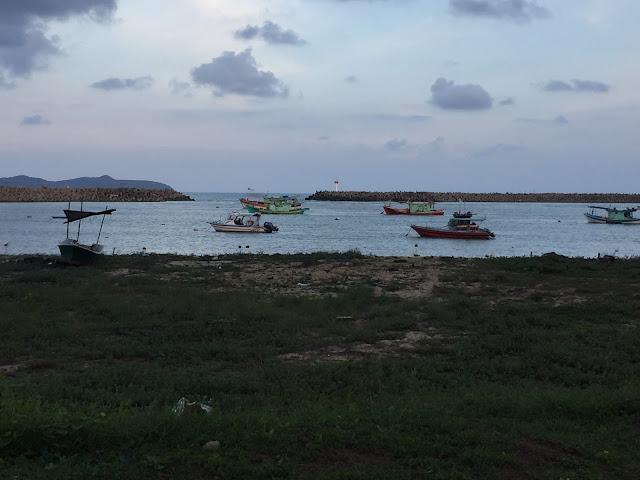 view senja di pulau kekabu