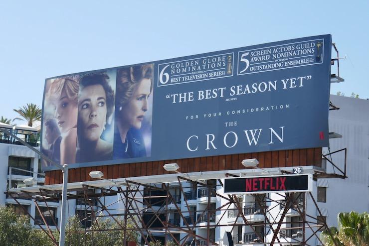 Crown season 4 SAG nominee billboard