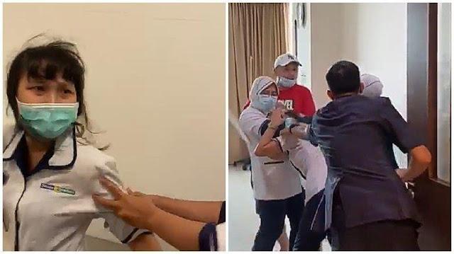 Mengaku Anggota Polisi, Orangtua Pasien Aniaya Perawat RS Siloam Palembang