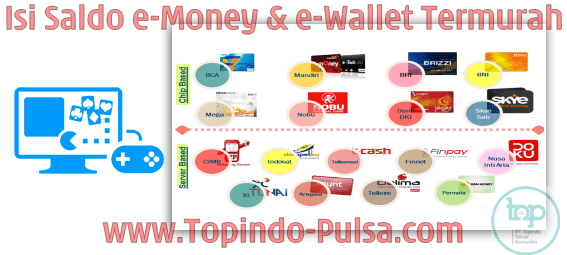 Topindo-Pulsa.Com Agen Top Up Saldo e-Money/e-Wallet Termurah