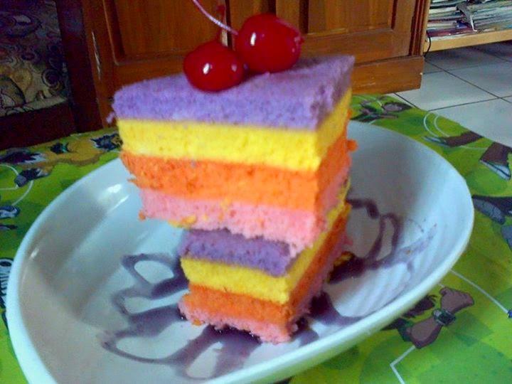 Resep Cake Kukus Pelangi Ncc: Resep Cara Membua Cake Pelangi Kukus