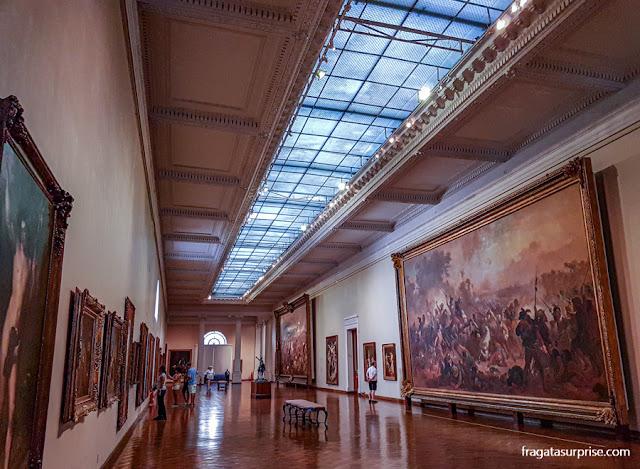 Galeria dedicada à pintura brasileira do Século 19, no MNBA