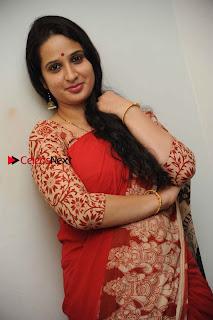 Kannada Actress Lakshmi Hegde Pos in Red Saree at Tab Movie Press Meet  0006.jpg