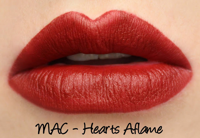 MAC MONDAY | A Novel Romance - Hearts Aflame Lipstick Swatches & Review