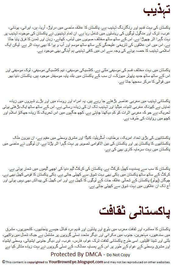 Pakistan Ki Saqafat In Urdu Pakistani Culture And Civilization Urdu
