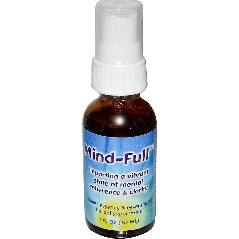 Flower Essence Services, Mind-Full, цветочная эссенция и эфирное масло, 30 мл