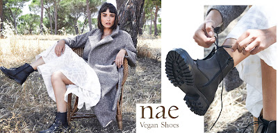 Nae vegan black lace-up leather boots