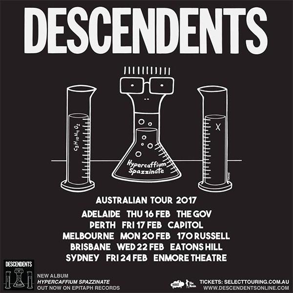 Descendents announce Hypercaffium Spazzinate Australian 2017 Tour