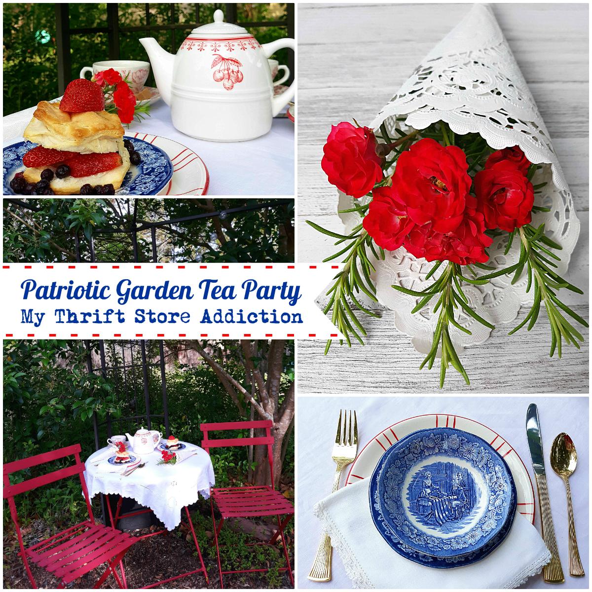 patriotic garden tea party
