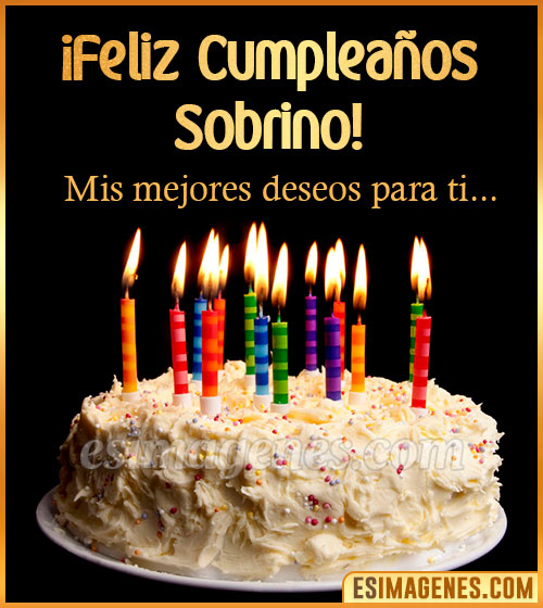 torta de cumpleaños para sobrino