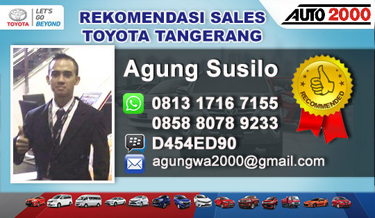 Rekomendasi Sales Toyota Jatiuwung Tangerang