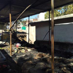 सब्जी मंडी में लगी आग कई दुकानें जलकर खाक