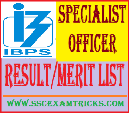 IBPS Special Officer Result