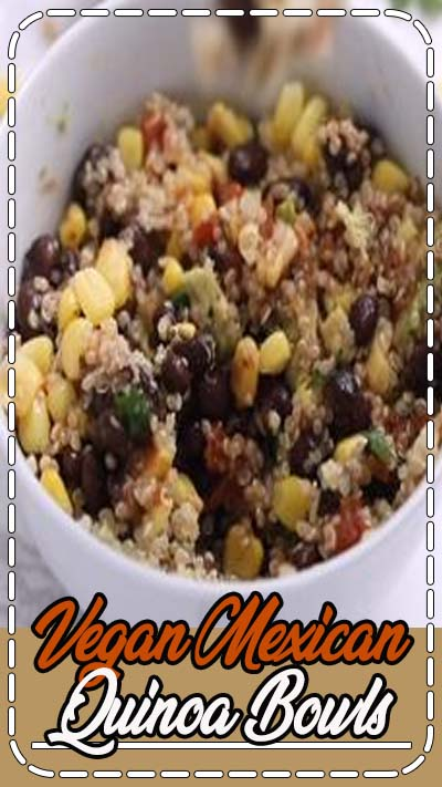 Best quinoa bowl ever! This healthy recipe is made with black beans, corn, salsa, avocado, and cilantro! You won't believe how easy it is to make and it's naturally gluten-free, vegan and vegetarian. Great for meal prep and clean eating!