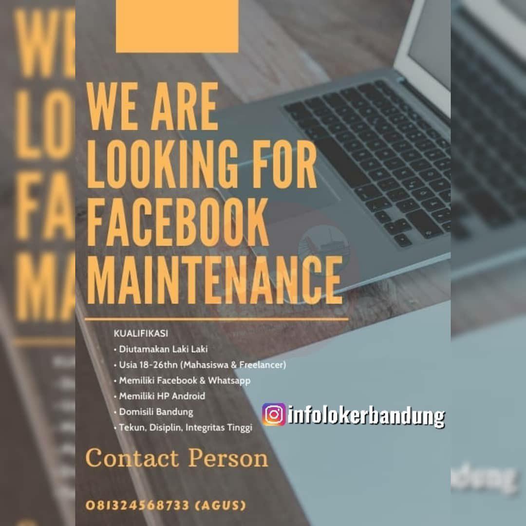 Lowongan Kerja Facebook Maintenance Bandung November 2019