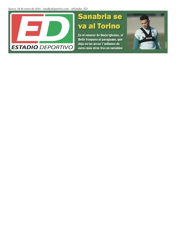 """Betis, Estadio Deportivo: """"Sanabria se va al Torino"""""""