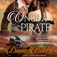 Audiobook cover for Once a Pirate