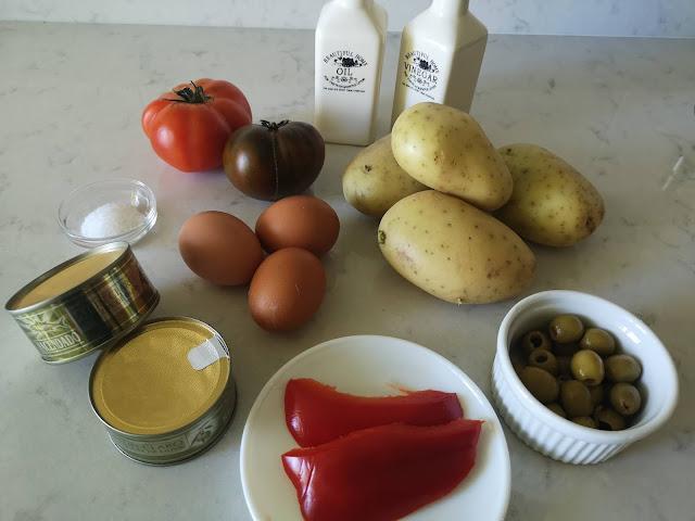 Ingredientes ensalada campera