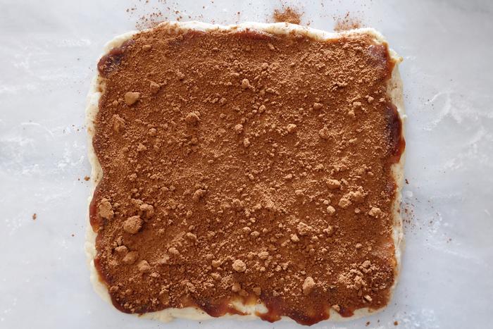 brown sugar and cinnamon sprinkled atop