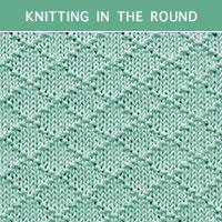 Diamond Brocade Knit Purl 73 in the round