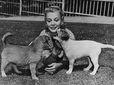 Carole Landis With Her Dogs