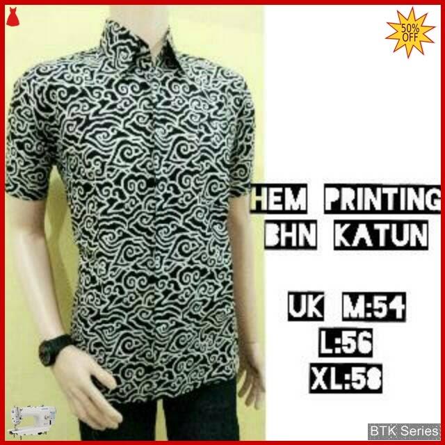 BTK107 Baju Hem Printing Monokrom Modis Murah BMGShop