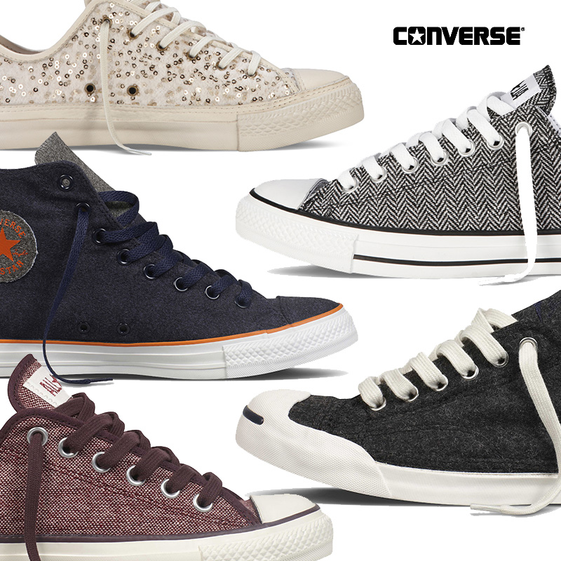 06e8b5e8bcb5 CONVERSE has debuted its new Holiday 2012 All Star Footwear Collections.  New Jack Purcells and Chuck Taylors for both men and women (and kids) will  be ...