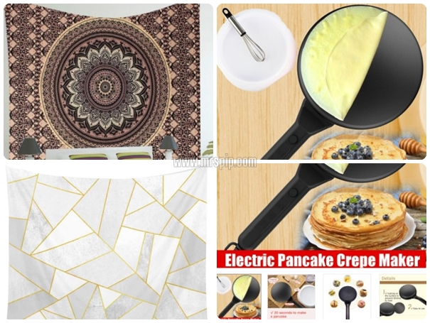 Beli Electric Pancake Crepe Maker dan Tapestry guna B Infinite Points di 11Street