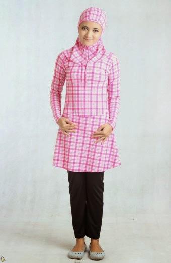 Contoh Model Baju Muslim Renang Modern 2015